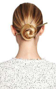 Bun with  Gold Hair Pencil classic clean elegance