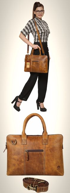 Kattee Sac /à Main Femme Cuir V/éritable Sac de shopping Sac de travail Sac pour ordinateur portable