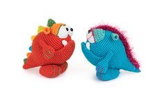 Monty and Myrtle by Ildikko // 'Amigurumi Monsters' book // Dim the lights, bring out your flashlight and quickly check underneath your bed: this new book will reveal the most adorable amigurumi monsters!