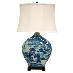 Blue Willow Table Lamp ~ Best Inspiration for Table Lamp