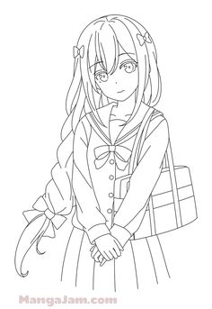 Art Drawings Sketches Simple, Easy Drawings, Lineart Anime, Style Anime, Art Diary, Anime Character Drawing, Anime Base, Anime Poses Reference, Drawing Base