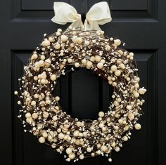 Everyday Wreath -  Berry Wreath - All Season Wreath - Wreath - Choose Bow and Size on Etsy, $39.00