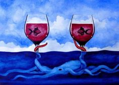 The official website of Artist Derek Gundy, Fish Art, Wine Art, Art Classes, Art Marketing