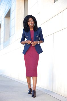 Double Breasted Blazer + T-Shirt Midi Dress: Style Pantry waysify
