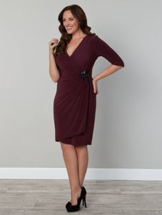 Ciara by Kiyonna via www.ladiva.dk great dress with just the right amount of sparkle.