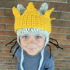 Crochet Max Halloween Costume Tail Hat and Crown by JulianBean