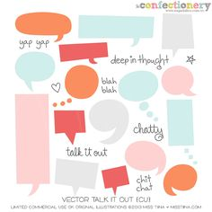 SHCO Confectionery - CU - Vectors - Vector Talk it Out {CU} --NEW & IMPROVED-- Join at http://www.sugarhillco.com/cc