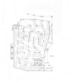 Plan Musashino Art University Library by Sou Fujimoto Architects