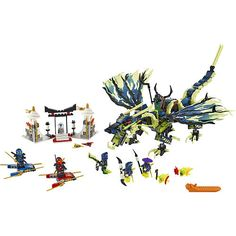LEGO Ninjago 70736 Attack of The Morro Dragon - Masters of Spinjitzu 2015 Danger - Morro has possessed the Green Ninja! Now he is swooping to attack the Tomb of Lego Ninjago, Dragons Online, Pokemon, Lego Toys, Buy Lego, Dinosaur Toys, Toys Online, Building Toys, Legos
