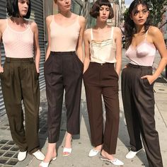 100's / Camisoles and tailored trousers / mono / white shoes footwear