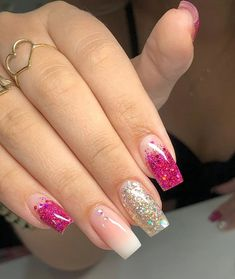 Fancy Nails, Cute Nails, My Nails, Heart Nail Designs, Cute Nail Designs, Fabulous Nails, Perfect Nails, Coral Nails, Heart Nails