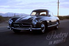 Poetry in Motion:   wonderful video segment about the owner of a 300SL Gullwing who actually drives this magnificent car and drives it often, saying it's a travesty not to do so...  http://vimeo.com/joshclason/poetry-in-motion