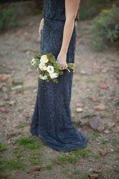 Arizona based photographers, The Amburgeys, continue to amaze me with their awe-inspiring collaborated wedding inspiration, and I'm just beyond thrilled to be Bridesmaids, Bridesmaid Dresses, Wedding Dresses, Blue Wedding, Wedding Colors, Embellished Bridesmaid Dress, Southwestern Wedding, Wedding Entourage, Midnight Blue
