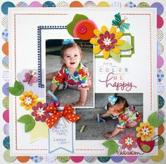 Color Me Happy **LYB and Petaloo** - Scrapbook.com