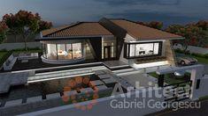 Casa parter 29 | Proiecte de case personalizate | Arhitect Gabriel Georgescu & Echipa Design Case, Home Fashion, Modern Architecture, House Plans, Sweet Home, House Design, How To Plan, Mansions, House Styles