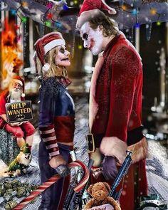 Joker and Harley Quinn Christmas Joker Dark Knight, Arkham Knight, Margot Robbie Harley Quinn, Joker And Harley Quinn, Joker Batman, Joaquin Phoenix, Gotham City, Dont Text And Drive, Jared Leto Joker