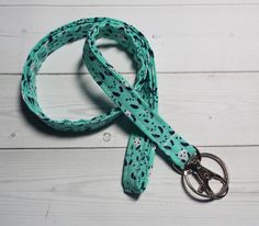 pandas Lanyard ID Badge Holder   Lobster clasp and key by Laa766  preppy / fabric / cute / patterns / key chain / office, nurse, student id, badge / key leash / gifts / key ring