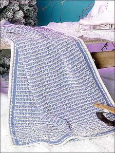 Comfy Lap Afghan free knitting pattern of the day from freepatterns.com 9/5/13