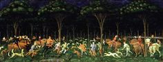 Paolo Uccello: The Hunt in the Forest, 1467, Ashmolean Museum. Chapter 12.