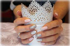 #nails #paznokcie #wzorki #pink #white #silver #semilac #hybrydy #manicure #hybrydowy