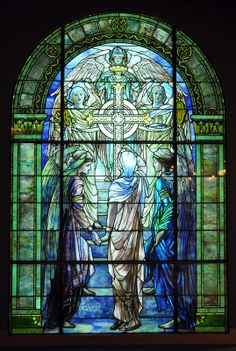 "Tiffany Wilson Window"" The Righteous Shall Receive a Crown of Glory"""