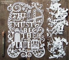 And paper cutting. Really gotta love paper cutting. Typography Letters, Typography Design, Hand Lettering, Typography Poster, Logo Design, Paper Cutting, Cut Paper, Paper Lace, White Paper