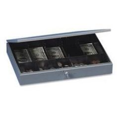 Industries  Industries Cash Box,10-Cmptmnt Tray,Steel,15-3-8 inchx10-. 5 inchx2-. 25 inch,GY Lowest Price