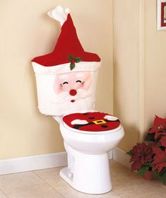 Toilet Sets with Sound 3 pc Santa or Turkey Holiday Bath Decor Toilet Sets with Sound 3 pc Santa or Turkey Holiday Bath Decor [SM311676-1TZO-SNT] - $17.95 : Smart Saver LLC