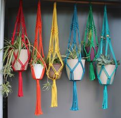 Macramé Plant Hangers  assorted colours by SunshineDreamingLove, $40.00