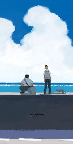 Haikyuu Fanart, Haikyuu Ships, Haikyuu Anime, Haikyuu Wallpaper, Cute Anime Wallpaper, Mood Wallpaper, Kenma Kozume, Kuroken, Animes Wallpapers