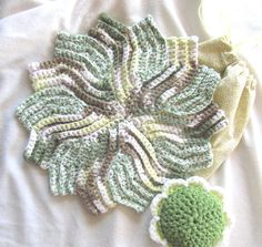 BeanSprout Cotton Crochet Pinwheel by BillyGoatsBuffet on Etsy