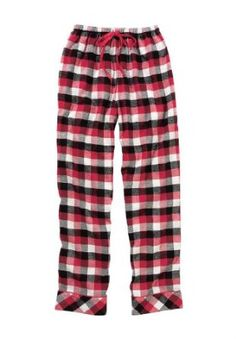 Jessica London Plus Size Dreams   Co. Flannel Plus Size Sleep Pants Classic  Red Plaid deefe0ef6
