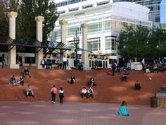 Pioneer Courthouse Square--Portland middle of downtown Portland City, Portland Oregon, Great Places, Places Ive Been, Oregon Travel, Windsurfing, Drink Coffee, Parks And Recreation, Rock Climbing