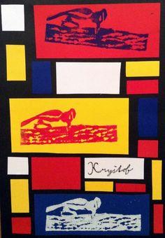 Tajuplný les, Inspirace Mondrian