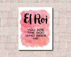 El Roi You are the God who sees me Printable Wall by TheBilasShop