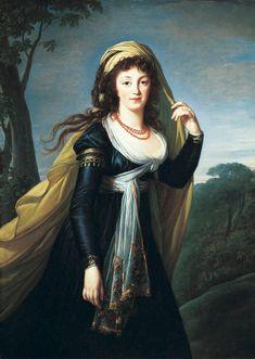 Marie-Louise-Elisabeth Vigée-Lebrun (French, 1755–1842), Portrait of Theresa, Countess Kinsky, 1793. Oil on canvas, 54-1/8 x 39-3/8 in. (137.5 x 100.0 cm). The Norton Simon Foundation . © The Norton Simon Foundation