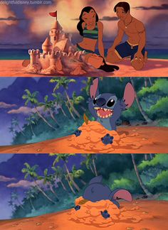 Don't worry Stitch, that's how my sandcastles turn out too