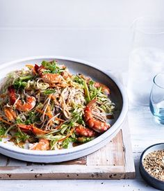 Prawn, Cabbage and Soba Noodle Salad Recipe | Gourmet Traveller