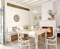 interior design für rustikale küche weiß