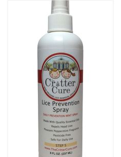 The Critter Cure Lice Prevention Mint Spray 8 oz #TheCritterCure