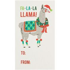 Fa La La Llama Gift Tags
