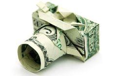 Des origami avec des billets de banque