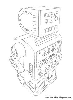 Free robot coloring pages for download