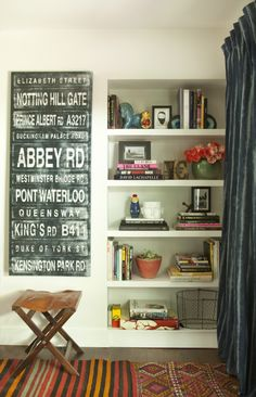 built in book shelves, I have a blank area like this built in book shelf. Now what to do with mine?
