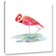 Found it at Wayfair - Flamingo View Painting Print on Wrapped Canvas