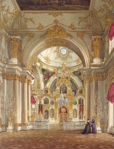 The Glory of Russian Painting:  Cathedral in the Winter Palace by Edward Petrovich Hau