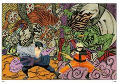 Official art by Kishimoto Masashi, taken from Naruto Illustrations Artbook.