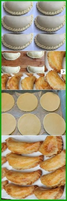 HOME MASS: for Empanadas de Oven recipe easy to prepare … – Dinner Recipes Mexican Dishes, Mexican Food Recipes, Dessert Recipes, Masa Recipes, Salty Foods, Peruvian Recipes, Pan Dulce, Bakery, Food And Drink