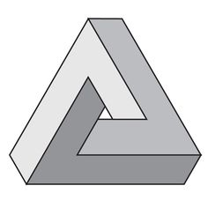 """Back in 1954, while attending International Congress of Mathematics in Amsterdam, Roger Penrose went to see exposition of M.C. Escher's work and being """"absolutely spellbound by his work"""" he decided to make something impossible himself. Penrose triangle and article about this impossible object were published 1958 in British Journal of Psychology. At this time Penrose knew nothing about Oscar Reutesvärd's earlier work."""