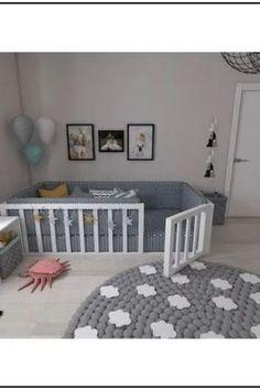 Montessori Bett Efes Montessori - Welcome Baby Bedroom, Baby Boy Rooms, Baby Room Decor, Nursery Room, Kids Bedroom, Room Baby, Girl Nursery, Nursery Ideas, Toddler Bedroom Ideas